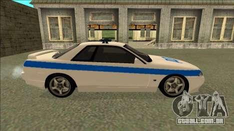 Nissan Skyline R32 Russian Police para GTA San Andreas vista interior