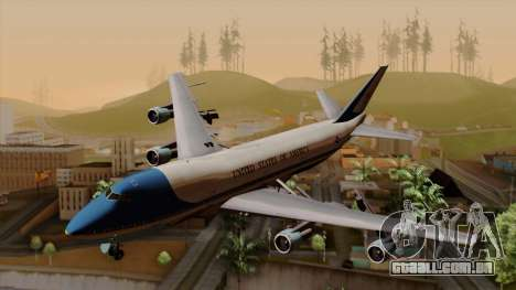 Boeing 747 Air Force One para GTA San Andreas
