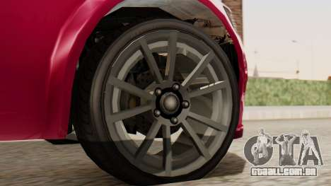 GTA 5 Cheval Fugitive para GTA San Andreas traseira esquerda vista