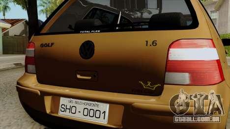 Volkswagen Golf 2004 Edit para GTA San Andreas vista traseira