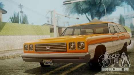 GTA 5 Dundreary Regina para GTA San Andreas traseira esquerda vista
