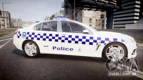 Holden VF Commodore SS NSW Police [ELS] para GTA 4 esquerda vista