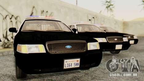 Ford Crown Victoria 2009 LAPD para GTA San Andreas traseira esquerda vista
