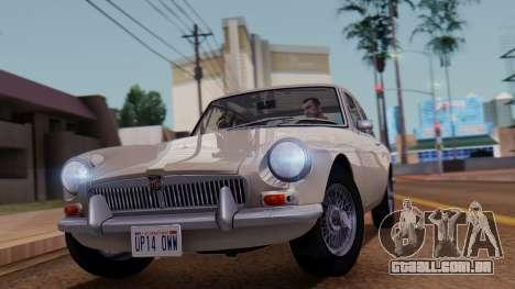 MGB GT (ADO23) 1965 FIV АПП para GTA San Andreas traseira esquerda vista