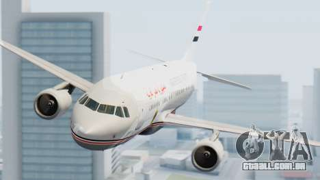 Airbus A320-200 Egyptian Air Force One para GTA San Andreas vista direita