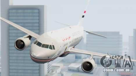 Airbus A320-200 Egyptian Air Force One para GTA San Andreas vista direita
