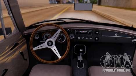 MGB GT (ADO23) 1965 FIV АПП para GTA San Andreas vista traseira