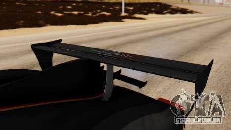 Pagani Zonda Revolucion 2015 para GTA San Andreas vista traseira