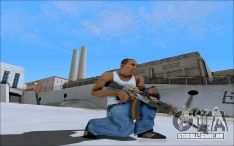 AK-47 Carbone Edition para GTA San Andreas terceira tela
