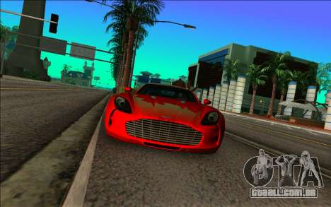Aston Martin One-77 para GTA Vice City vista traseira esquerda