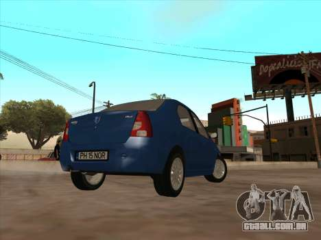 Dacia Logan Prestige para GTA San Andreas vista direita