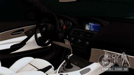 BMW M6 E63 Police Edition para GTA San Andreas vista direita
