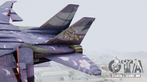 F-14D Zipang para GTA San Andreas traseira esquerda vista