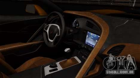 Chevrolet Corvette Z06 1.0.1 para GTA San Andreas vista traseira