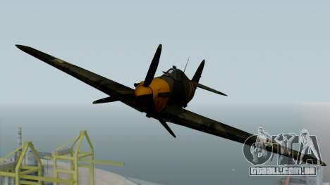 Hawker Hurricane Mk1 - Romania Nr. 1 para GTA San Andreas vista direita