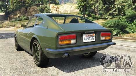 GTA 5 Datsun 240Z traseira vista lateral esquerda