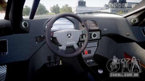 Mercedes-Benz CLK LM 1998 para GTA 4 vista de volta