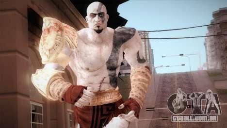 God Of War 3 Kratos Blue para GTA San Andreas