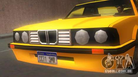 Vincent E30 para GTA San Andreas traseira esquerda vista