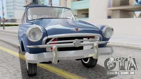 GAZ 21 Volga v1 para GTA San Andreas vista traseira