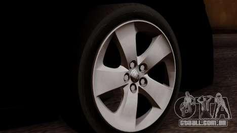 Toyota Prius ДПС para GTA San Andreas traseira esquerda vista