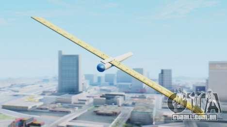 Fantástico avião para GTA San Andreas traseira esquerda vista