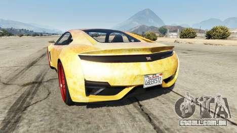GTA 5 Dinka Jester (Racecar) Fire traseira vista lateral esquerda