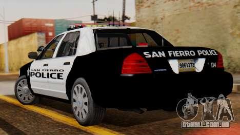 Police SF 2013 para GTA San Andreas esquerda vista