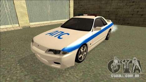 Nissan Skyline R32 Russian Police para GTA San Andreas traseira esquerda vista