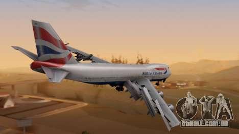 Boeing 747-200 British Airways para GTA San Andreas esquerda vista