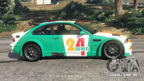 GTA 5 BMW M3 GTR E46 PJ3 vista lateral esquerda