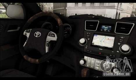 Toyota Highlander 2011 para GTA San Andreas interior