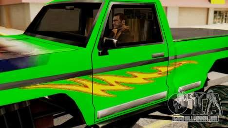 Monster New Texture para GTA San Andreas traseira esquerda vista