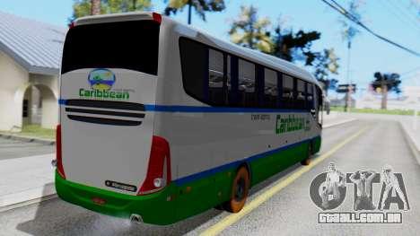 Marcopolo Bus Caribbean Travel para GTA San Andreas esquerda vista