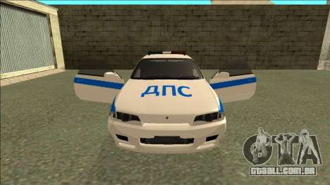 Nissan Skyline R32 Russian Police para as rodas de GTA San Andreas