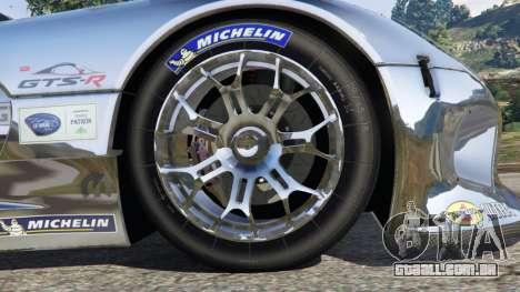 GTA 5 Dodge Viper GTS-R SRT 2013 [Beta] traseira direita vista lateral