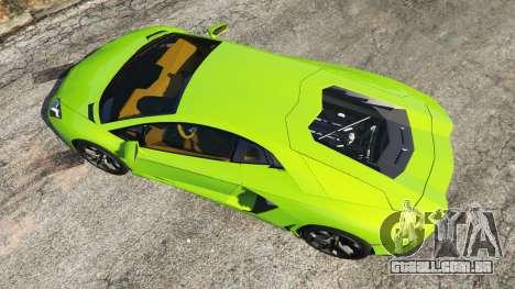 GTA 5 Lamborghini Aventador LP700-4 v1.0 voltar vista