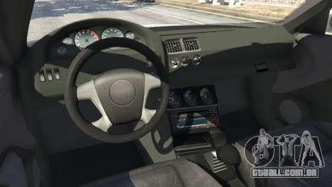 GTA 5 BMW M3 GTR E46 PJ3 vista lateral direita