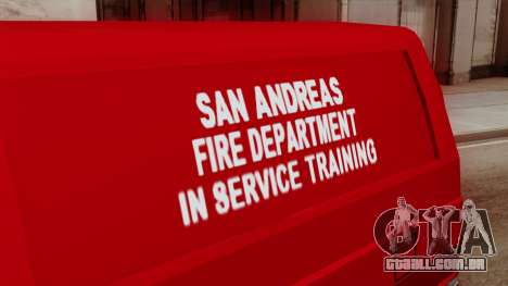 SAFD In Service Training Van para GTA San Andreas vista direita
