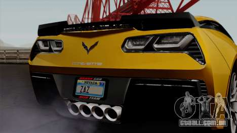 Chevrolet Corvette Z06 1.0.1 para GTA San Andreas vista interior