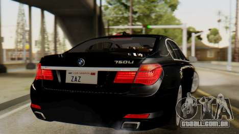 BMW 750Li 2012 para GTA San Andreas esquerda vista