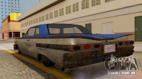 GTA 5 Declasse Voodoo Worn IVF para GTA San Andreas esquerda vista