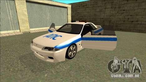 Nissan Skyline R32 Russian Police para o motor de GTA San Andreas