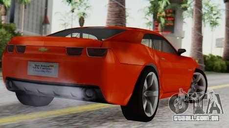 NFS Carbon Chevrolet Camaro IVF para GTA San Andreas esquerda vista