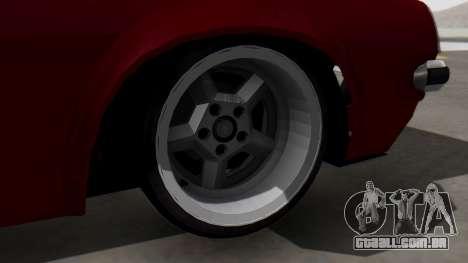Opel Manta B1 para GTA San Andreas traseira esquerda vista