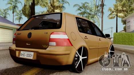 Volkswagen Golf 2004 Edit para GTA San Andreas esquerda vista