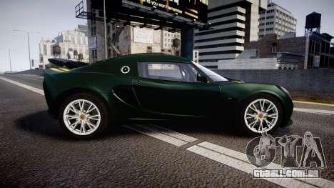 Lotus Exige 240 CUP 2006 Team Lotus para GTA 4 esquerda vista