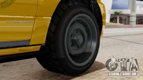Landstalker Taxi SR 4 Style Flatshadow para GTA San Andreas traseira esquerda vista