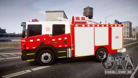 Scania 94D 260 Victorian CFA [ELS] para GTA 4 esquerda vista
