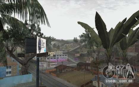 Árvores de WarFace para GTA San Andreas quinto tela